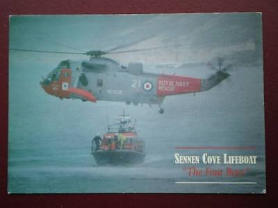 Postcard Sennen Cover Lifeboat 'the Four Boys'