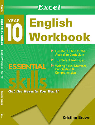 Excel Essential Skills - English Workbook Year 10 NEW Pascal Press 9781740200394
