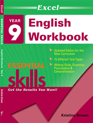 Excel Essential Skills - English Workbook Year 9 NEW Pascal Press 9781740200387