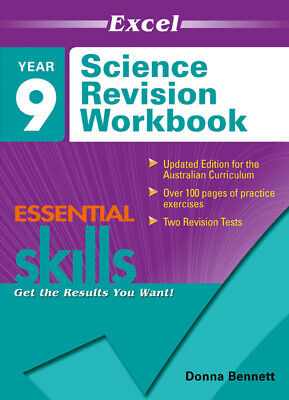Excel Essential Skills - Science Revision Workbook Year 9 NEW 9781740200806