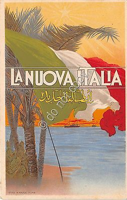Cartolina - Postcard - Colonie La Nuova Italia Quotidiano Tripoli