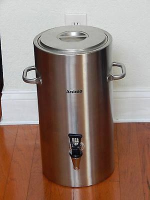 Animo 10 Liter Stainless Steel Insulated Coffee / Tea / Beverage Dispenser