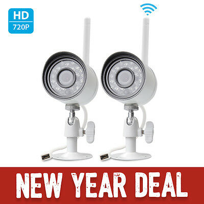 Funlux 2 720p IP Network Outdoor Wireless IR Night Home Security Camera System