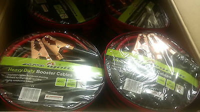 10 x 400AMP HEAVYDUTY 3METRE JUMP LEADS BOOSTER CABLES JOBLOT BULK WHOLESALE NEW