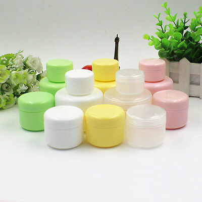 5pcs New Empty Makeup Jar Pot Travel Face Cream/Lotion/Cosmetic Container Case