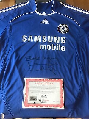 Signed Chelsea shirt Lampard, With Certificate Of Authenticity