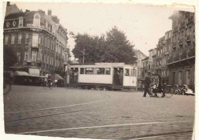 Small photo of tram, Europe ? Holland/Belgium/France ?, c. 1950s/1960s ?
