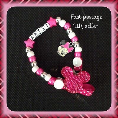 Girls Personalised Dummy Clip. With Or Without MAM adapter