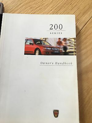 Rover 200 Handbook with cover