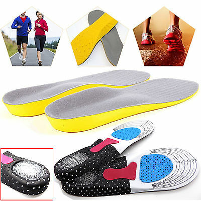 Orthotic Arch Support Unisex Insoles Sport Comfort Shoe Shock Absorb Gel Heel