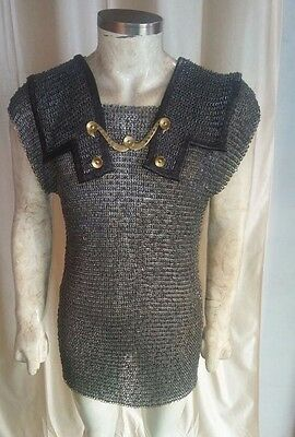 Roman Hamata LARGE Medieval Armor 6mm round riveted & flat washer chainmail