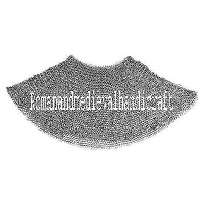 chainmail aventail ARMOR ~ 9 MM flat riveted w washer MILD STEEL Oil finish