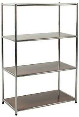 Library Chromed Librerie Arredo Office 4 Shelves Brown Scratchproof 80x40x120