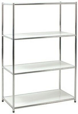 Library Shelf Chrome Librerie Office 4 Slice White Scratchproof 80x40x120