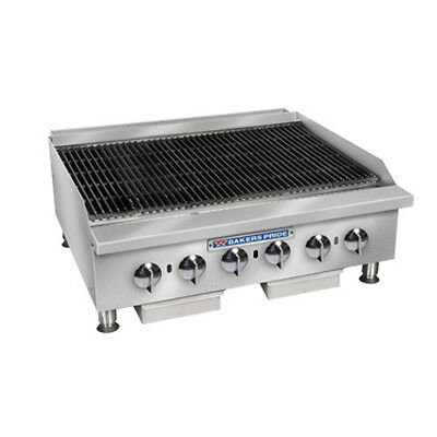 "Bakers Pride BPHCB-2436I Gas 36"" Heavy Duty Countertop Charbroiler"