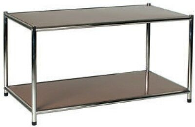 Library Shelf Librerie Tour Chromed 2 Slice Brown 80x40x40 Scratchproof