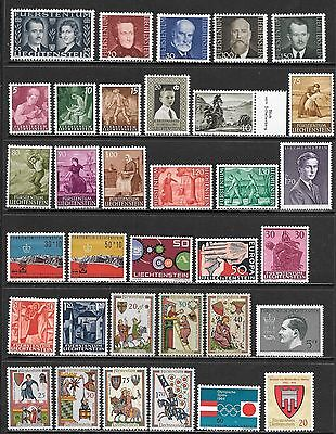 LIECHTENSTEIN Very Nice All Mint Never Hinged Issues Selection (Feb 0036)