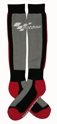 MotoGP Race Racing Motorcycle Motorbike Boot Socks Grey / Black / Red