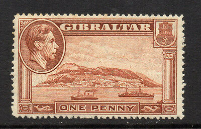 Gibraltar 1938/51 1d Yellow-Brown KGVI - Perf 14 - SG 122 - FM