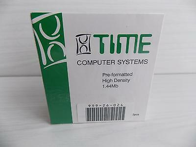 Time Computer Systems : 10 Diskettes : Floppy Discs : 2Hd : Brand New & Sealed
