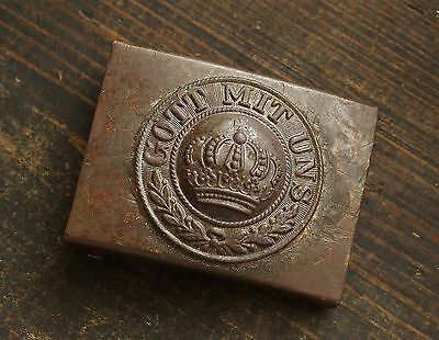 Original WW1 / WWI Battl. Relic German Army Soldiers Belt Buckle ( East front )