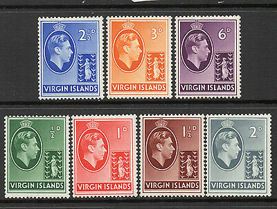 Virgins 1938/47 KGVI (Chalky Paper) to 6d (7) - SG 110/116 - FM
