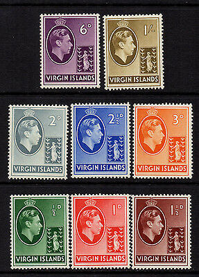 Virgins 1938/47 KGVI Ordinary Paper to 1/- (8) - SG 110a/117a - FM