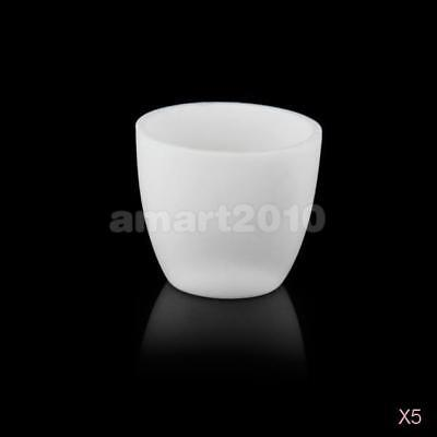 5X 30ml Alumina (99%) Conical Crucible Melting Pot for Lab Muffle Furnace 1800℃