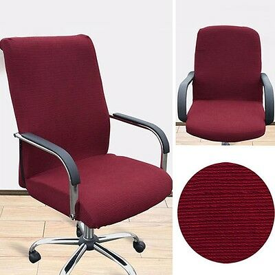 Hot Office ChairCoverComfy StretchyArmchairSeatSwivelChairSlipcover Newly