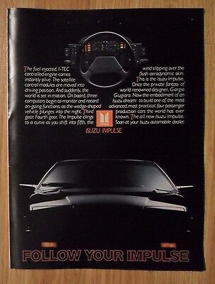 1983 Print Ad ISUZU Impulse Car Automobile ~ Follow Your Impulse