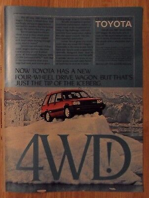 1983 Print Ad Toyota Tercel 4WD SR5 Wagon SUV ~ Just the Tip of the Iceberg