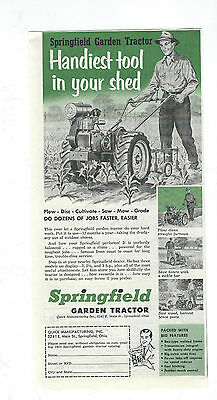 1953 Quick Mfg, Co. Springfield, Oh.Springfield  Garden Tractor ad