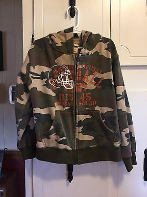 Boys Faded Glory Camouflage Hooded Jacket-XS(4/5)