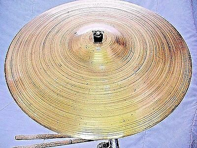 "VINTAGE Old 1950s 18"" KENT THIN CRASH RIDE Cymbal Exc! 1232g Dark Jazz *WORLDSHP"