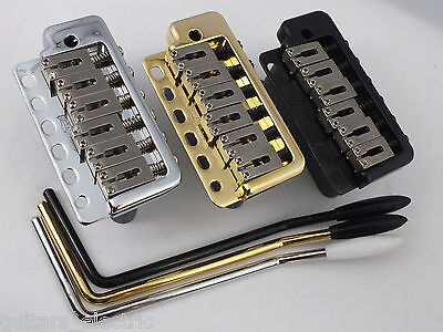 WILKINSON WVP6 TREMOLO BRIDGE + Stainless Steel Saddles in Chrome, Black or Gold