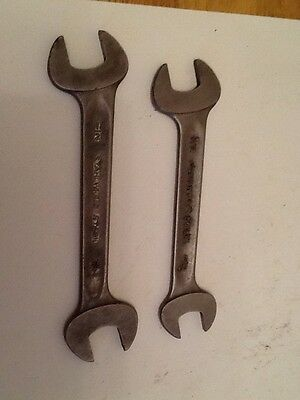 2 Vintage German Stahlwille Spanners - 7/16 x 3/8 & 1/2 X 7/16