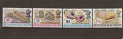British Indian Ocean Territory 1974 Wildlife Mint Set Of Stamps