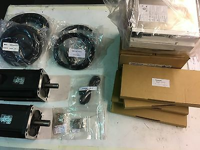 Panasonic AC Servo Drive with motor, A-4 Drive, cables, resistor   & connectors(