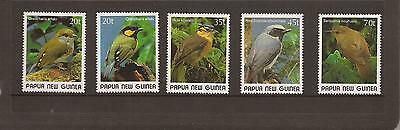 Papua New Guinea 1989 Birds Mnh Set Of Stamps