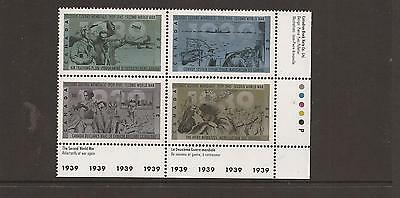 Canada 1989 Anniversary Of Second World War Mnh Set Of Stamps