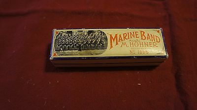 M. Hohner Marine Band Harmonica with Box - Made in Germany