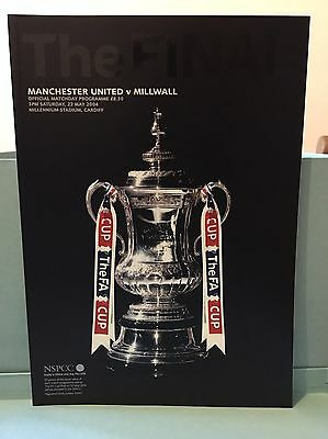 FA Cup Programme, Manchester United V Millwall May 2004