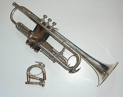 Collectible Antique matching Besson Prototype Trumpet with extra pipe