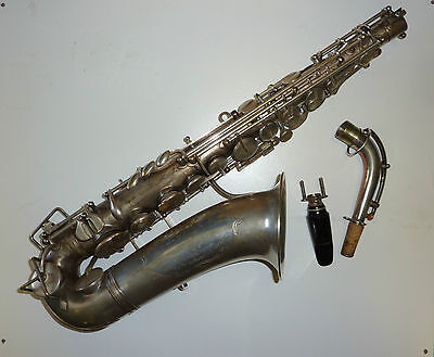 Beautiful Vintage French Alto Saxophone Low pitched early 20th cent..