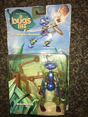Vintage 1998 Mattel Disney/Pixar Bug's Life Action Figure Warrior Flik New