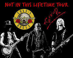 Guns N' Roses Not In This Lifetime Tour x2 Standing Tickets 16 June London