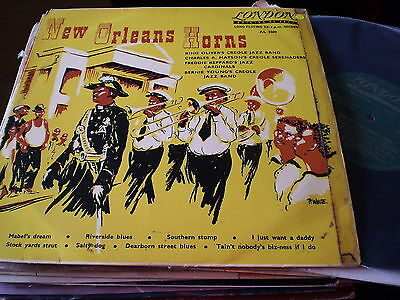 "New Orleans Horns - New Orleans Jazz -  10"" London  Lp"