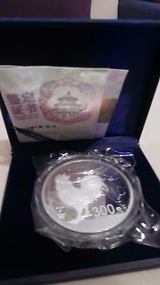 "Silber Münze 1KG Jahr des ""Hahn"" PLATED-Silver Coin 1KG ""Year of Rooster"" PLATED"
