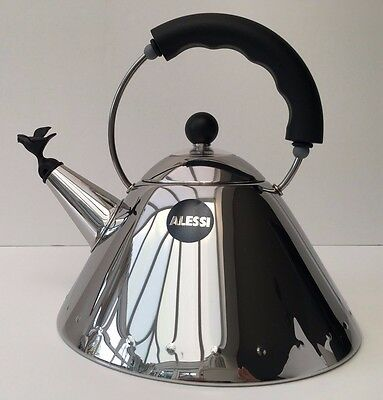 Alessi Whistling Bird Hob Kettle 9093 Black / Nero By Michael Graves