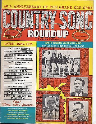 Country song Roundup #93 Apr 1966